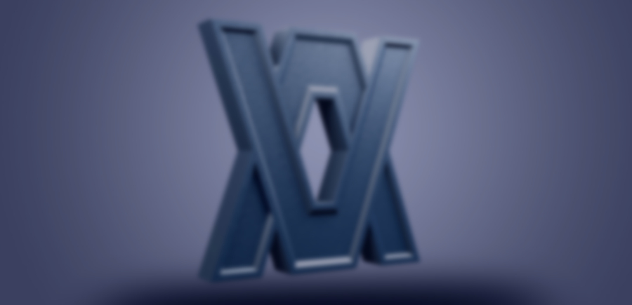 Verxel Arts 3D Logo Blurred
