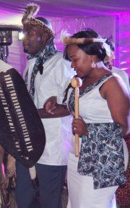 Daliso & Patricia in Ngoni attire